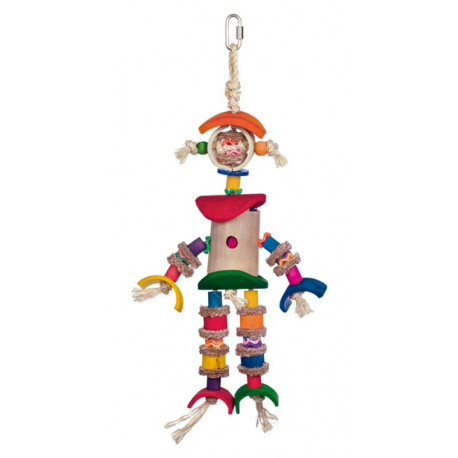 Nobby aktivní hračka pro papoušky velký robot 41x20cm