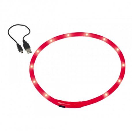 Nobby Ľad Visible červený svietiaci obojok silikón 70cm