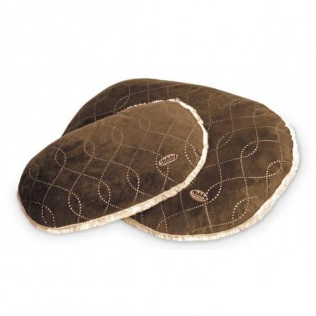 Nobby Ceno luxusní plyšový polštář hnědý 92x59cm