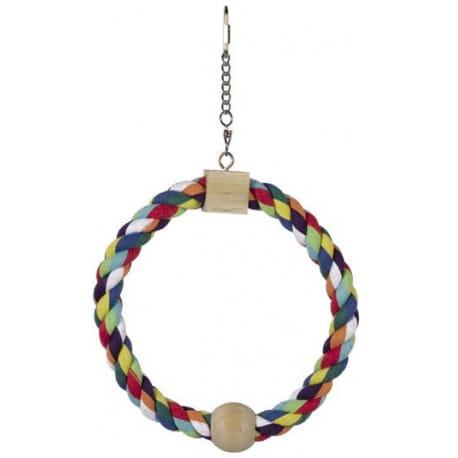 Nobby hračka pro malé papoušky bavlněný kruh 31x18cm