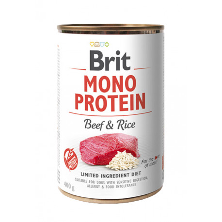 Brit Dog konz Mono Protein Beef & Brown Rice 400g