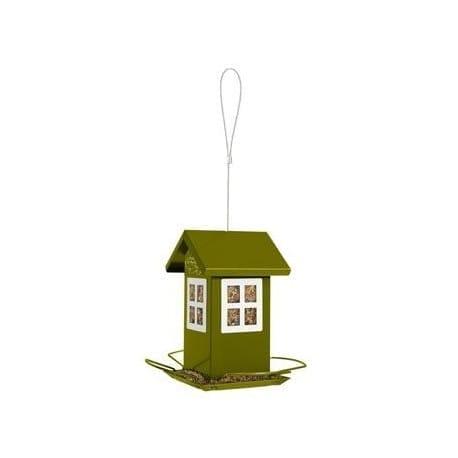 Budka krmítko HOUSE kovová zelená Zolux