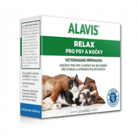 Alavis Relax pre psy a mačky 75mg 20cps