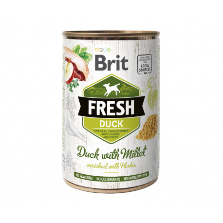 Brit Dog Fresh konz Duck with Millet 400g