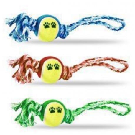 Hračka pes provaz s balónkem 7x35cm