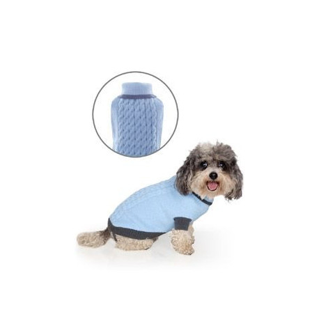 Svetr Liverpool pro psy modrý 40cm