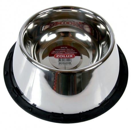 Miska nerez protiskluz kokr STEEL 0,95l Zolux