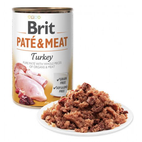 Brit Dog konz Paté & Meat Turkey 800g