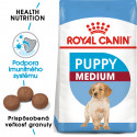 Royal Canin Medium Puppy granule pre stredné šteňatá 1kg