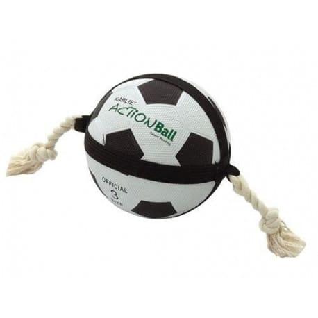 Hračka pes Fotbalový míč přetahovací 22cm KAR