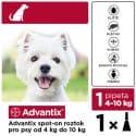 Advantix Spot On 1x1ml pre psov 4-10kg (1 pipeta)