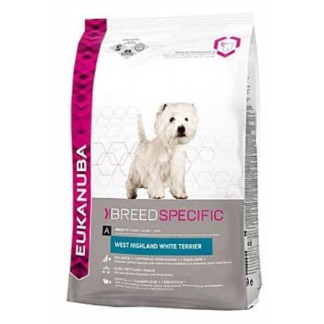 Eukanuba Dog Breed N. West High White Terrier 2,5kg