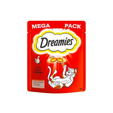 Dreamies kočka pochoutka Mega Pack kuřecí 180g