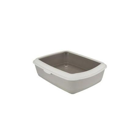 WC kočka s rámem Classic 47x37x15cm TR šedohnědá