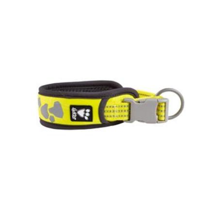 Obojek Hurtta Weekend Warrior neon citrónový 45-55cm