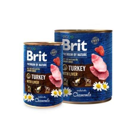 Brit Premium Dog by Nature  konz Turkey & Liver 400g
