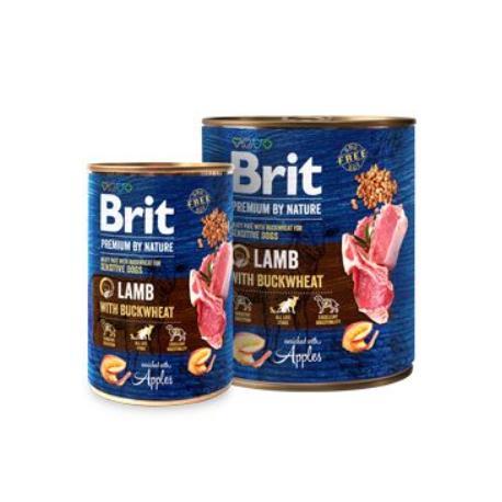 Brit Premium Dog by Nature  konz Lamb & Buckwheat 400g