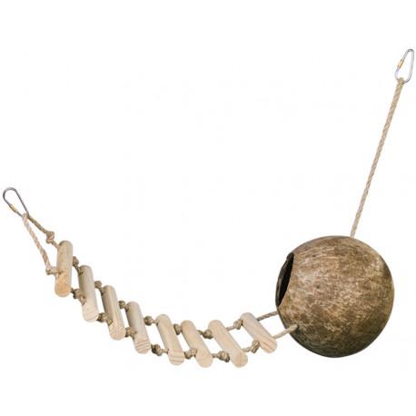 Nobby kokosový domček s rebríkom 65 cm