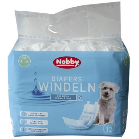Nobby papierové plienky pre psov L-XL 60-80cm (12 ks)
