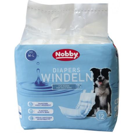 Nobby papierové plienky pre psov ML 46-60cm (12 ks)
