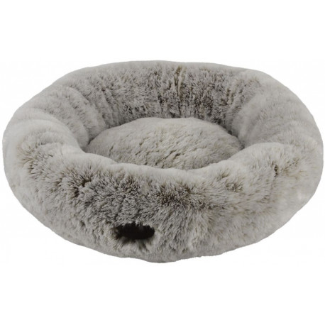 Nobby SELLAM donut pelíšek hnědý dlouhý plyš 45cm