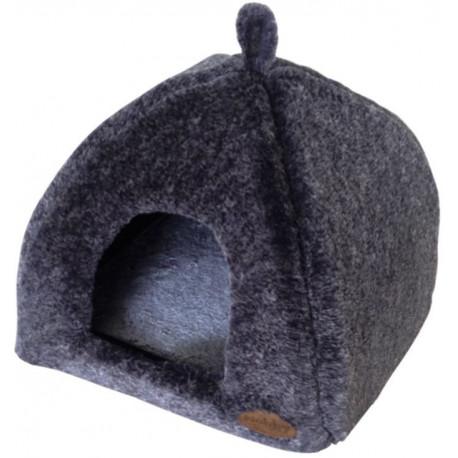 Nobby CUDDLY jeskyně tmavě šedá plyš 40x40x35cm