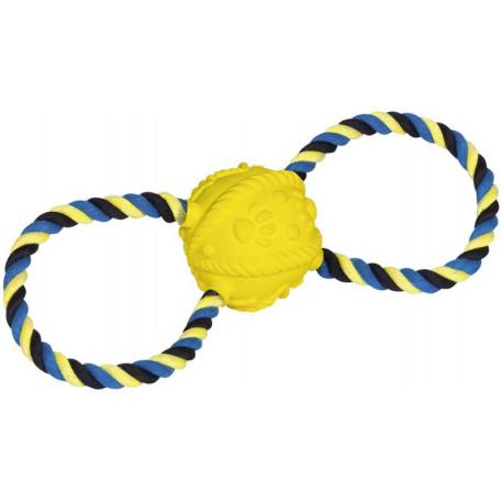 Nobby hračka pre psov latexový loptu s lanom 31cm