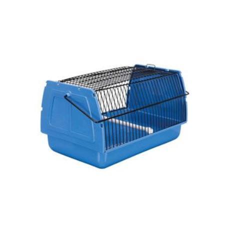 Přepravka pro ptáky 30x18x20cm plast modrá 1ks TR