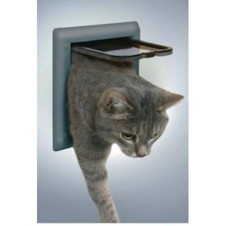 Dvířka kočka plast 4P Šedá DeLuxe Trixie 1ks