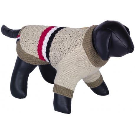 Nobby SIRA pletený sveter pre psov béžová 20cm