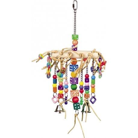 Nobby aktívna hračka pre papagáje so zvončekmi 41 x 22 cm