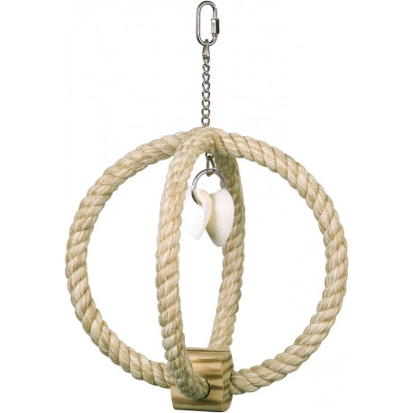 Nobby šplhacie kruh bavlna, sisal s mušľami 33 x 22,5 cm