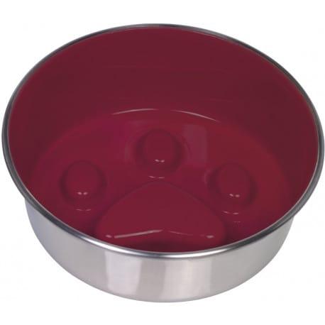 Nobby PAW protihltací miska červená nerez 20cm 1,6 l