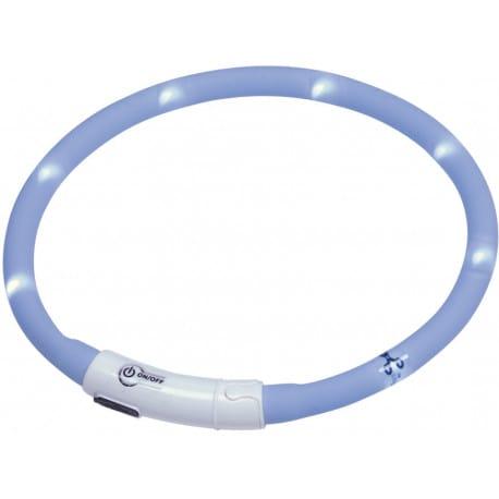 Nobby Ľad Puppy svietiaci krúžok silikón svetlo modrá 45cm
