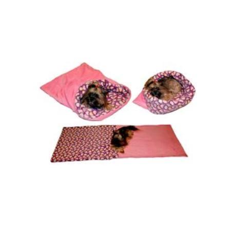 Spací pytel 3v1 srdíčka/růžová XL pes,kočka č.60