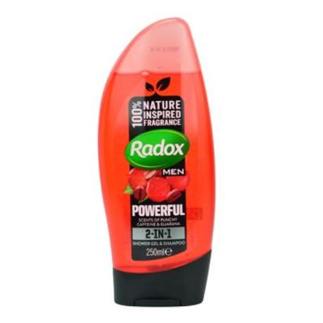 Radox sprchový gel Men 2v1 Feel Powerful 250ml