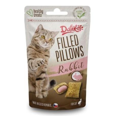 Dafíko plněné polštářky pro kočky králičí 40g