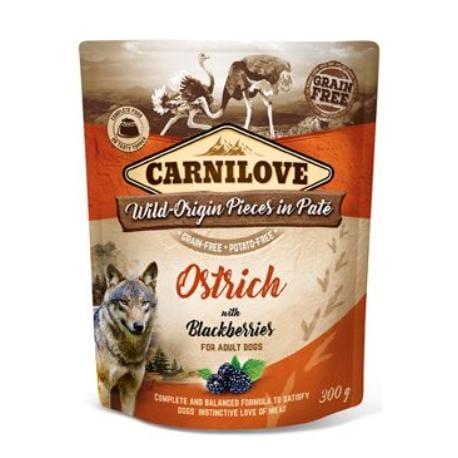 Carnilove Dog Pouch Paté Ostrich & Blackberries 300g