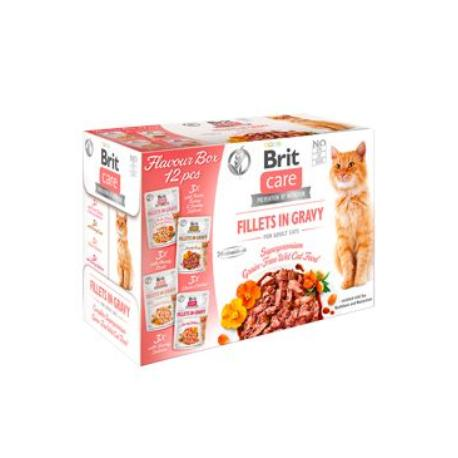 Brit Care Cat Fillets Gravy Flavour box 4*3psc(12*85g)