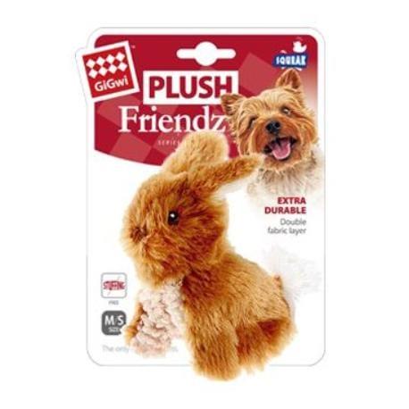Hračka pes GiGwi Plush Friendz králiček hnědy plyš