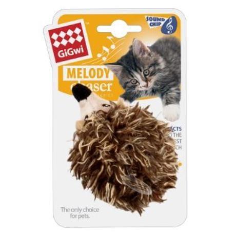Hračka kočka GiGwi Melody Chaser Ježek se zvuk. čipem