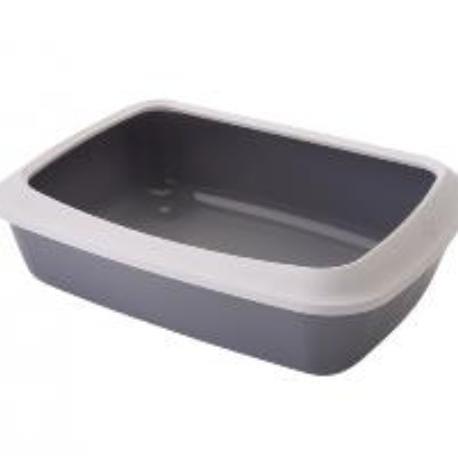Savic Isis Small šedá toaleta pro kočky s okrajem 42x