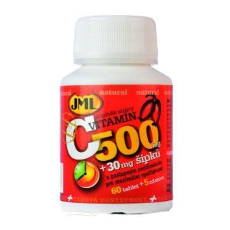Vitamin C přírodní s šípky JML 500mg 60tbl