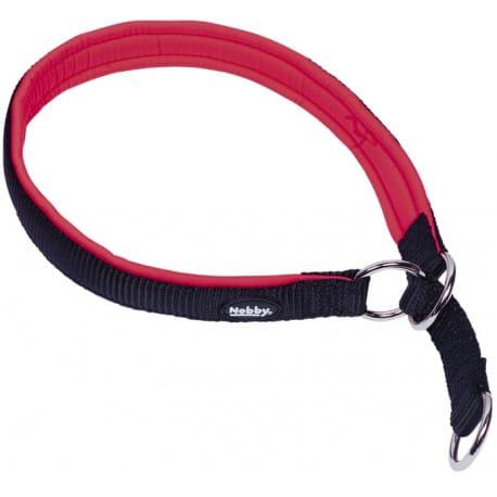 Nobby CLASSIC prEN polosťahovací obojok polstrovaný červená L 50-60cm