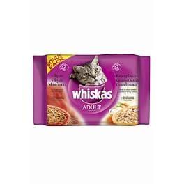 Whiskas kapsa Menu v krémovej omáčke 4x100g