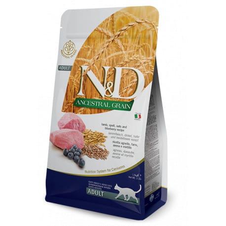 N&D Low Grain CAT Adult Lamb & Blueberry 10kg