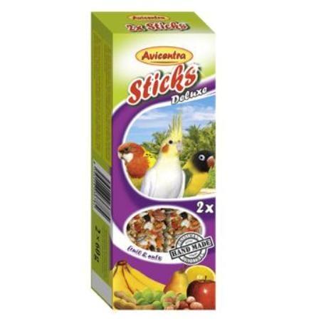 Avicentra tyčinky malý papagáj - ovocie+orech 2ks