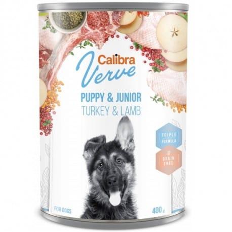 Calibra Dog Verve konz.GF Junior Turkey&Lamb 400g