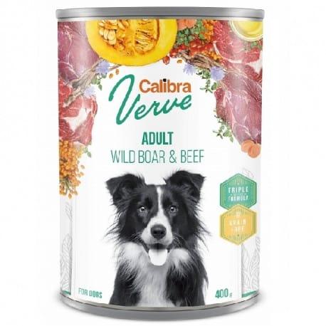 Calibra Dog Verve konz.GF Adult Wild Boar&Beef 400g
