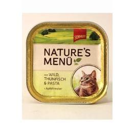 Schmusy Cat Nature Menu vanička zvěřina+tuňák 100g